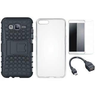 Redmi 5 Defender Back Cover with Kick Stand with Silicon Back Cover, Tempered Glass and OTG Cable