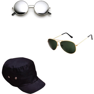 200e45ea92e4f Buy Combo of Lee Topper Stylish Round Sunglasses With Cap Online   ₹999  from ShopClues