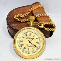 PIRU Antique Bold Brass Pocket Watch