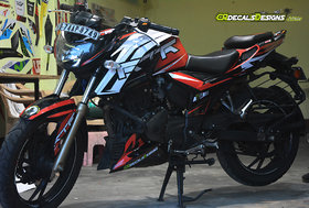 APACHE RTR 200 4v Custom Decals/Stickers RACE Edition Kit