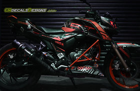 CR Decals APACHE RTR 200 4v Custom Decals/Stickers HONIGAN Edition Kit RED