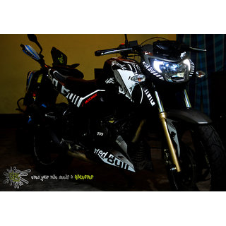 CR Decals APACHE RTR 200 4v Custom Decals/Stickers REDBULL Edition Kit