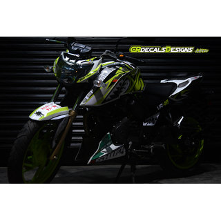 CR Decals APACHE RTR 200 4v Custom Decals/Stickers VR46 SHARK NEON Edition Kit