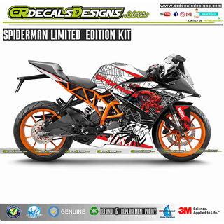 CR Decals KTM RC Custom Decals FULL BODY SPIDERMAN Edition Kit (RC 200/390/125)
