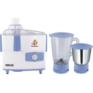 Inalsa Champion 450 W Juicer Mixer Grinder (Blue  White/2 Jars)