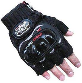 MOCOMO Imported Pro Bike Half Cut Racing Motorcycle Riding Gloves (XL, Black)