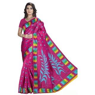 Shopbench Multicolor Bhagalpuri Half  Half Saree With Blouse Piece