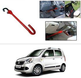 AutoStark 3r Red Car Steering Wheel Lock Pedal Saftey Interior Accessories For Maruti Suzuki Wagon R Duo