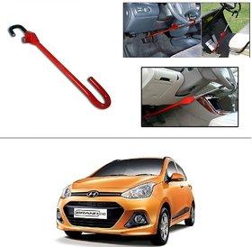AutoStark 3r Red Car Steering Wheel Lock Pedal Saftey Interior Accessories For Hyundai Grand I10