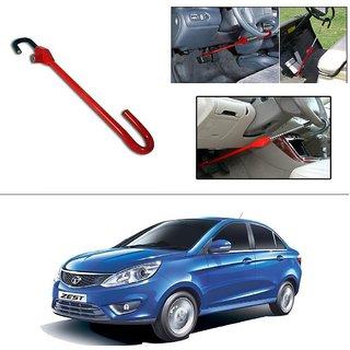 Autostark 3r Red Car Steering Wheel Lock Pedal Saftey Interior Accessories For Tata Zest