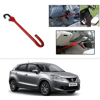 AutoStark 3r Red Car Steering Wheel Lock Pedal Saftey Interior Accessories  For Maruti Suzuki New Baleno