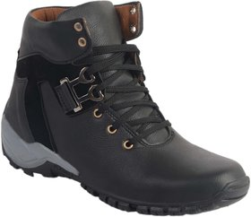 Aadi Mens Black Lace-up Boots