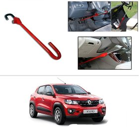 AutoStark 3r Red Car Steering Wheel Lock Pedal Saftey Interior Accessories For Renault kwid