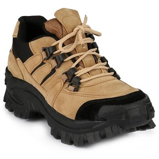 Aadi Mens Beige Lace-up Outdoor Shoes