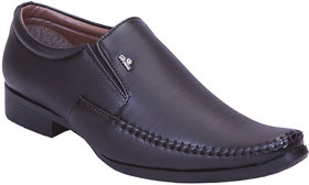 Aadi Black Synthetic Air Mix Slip on Smart Formals Shoes
