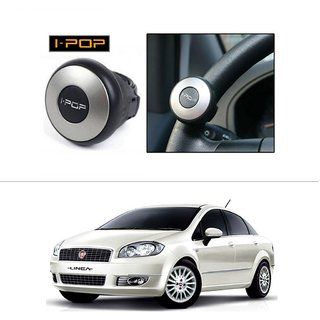 AutoStark i-Pop Mini Silver Car Steering Wheel Power Holder Knob-Fiat Linea (Prior 2014)