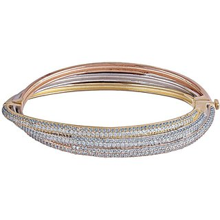 Lucera Silver Plated Multicolor Sterling Silver Bangles For Women