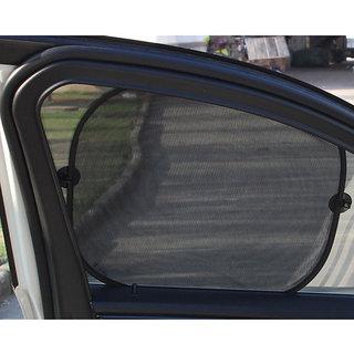 MOCOMO Imported Set Of 2 Pair (4 Pieces) - Black Foldable Car Window Sun Shade Sunshade Mesh ( Black)