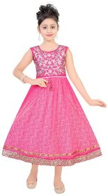 Saarah Pink Dress For Girls