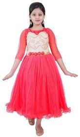 Saarah Red Net Dress for girls