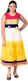 Saarah Multicolor Net Dress for girls