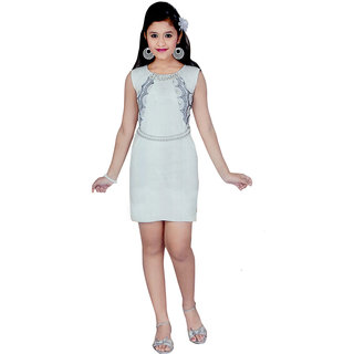 Saarah White Dress for girls