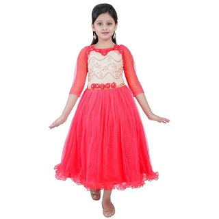 Saarah Red Net Dress for girls
