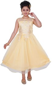 Saarah Beige Dresses For Girls