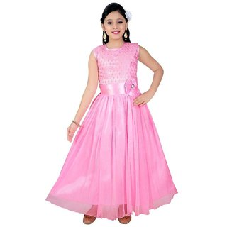 Saarah Pink Gown for Girls