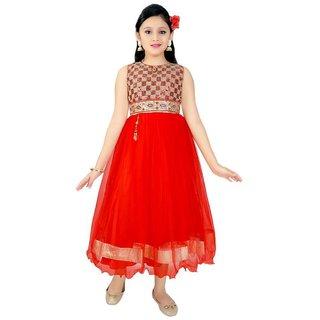 Saarah Red Dress For Girls