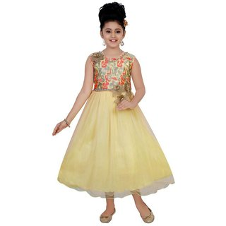 Saarah Multicoloured Net Frock For Girls
