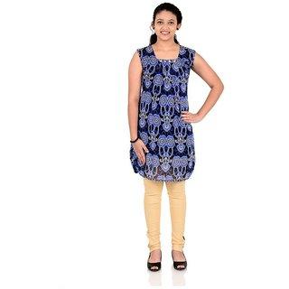 Saarah Blue & Beige Tops & Bottom Sets