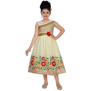 Saarah Multicolour Net Dress for girls