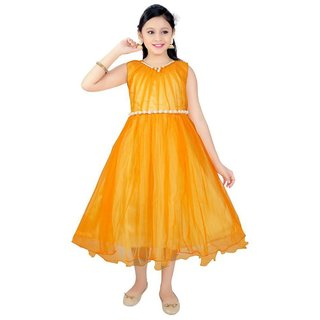 Saarah Yellow Frock for girls