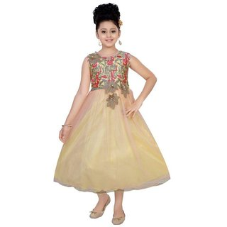 Saarah Multicolour Net Dress for girls