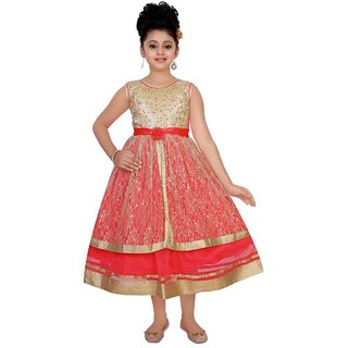Saarah Red Frock for girls