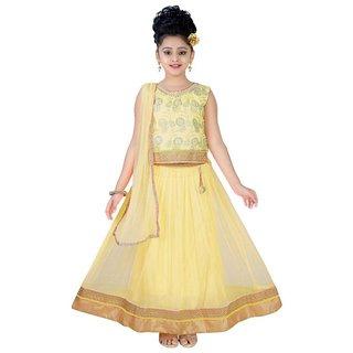 4e4c2e739 Buy Saarah Yellow Net Lehenga Choli Set for girls Online - Get 60% Off