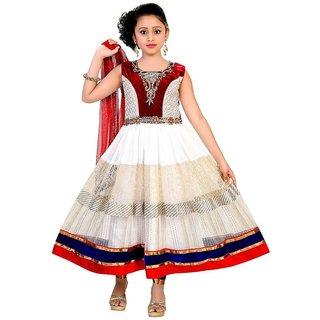 Saarah White Net Salwar Kameez Set