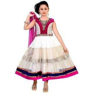 Saarah Multicolour Net Salwar Kameez Set