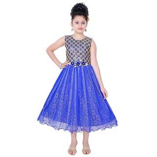 Saarah Blue A-Line Dress for girls