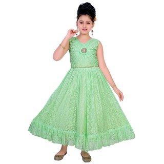 Saarah Sea Green Dress For Girls