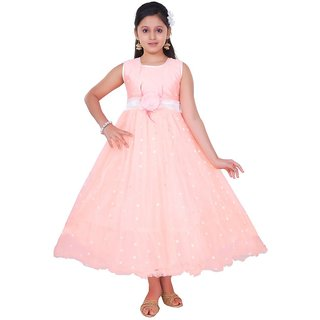 Saarah Peachpuff Gown Dress for girls