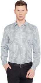 Routeen Men's Green Formal Checks Shirts