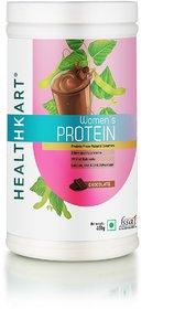 HealthKart Women's Protein with Calcium, Iron & DHA, Chocolate, 400g