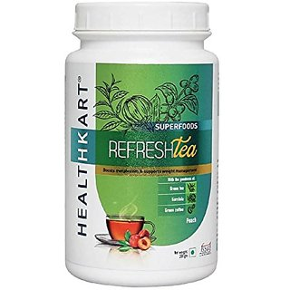 Healthkart Refresh tea with Garcinia Green tea and Green coffee extracts Refreshes and Revitalizes for weight management 200g  Ginger honey flavor