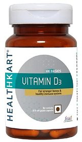 Healthkart Vitamin D3 , For Stronger Ones And Teeth, FS
