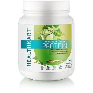 HealthKart 100% Plant Protein Vegan Lactose Free 1kg Cardamom