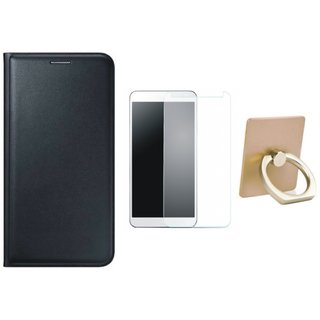 Redmi Note 5 Cover with Ring Stand Holder, Tempered Glass