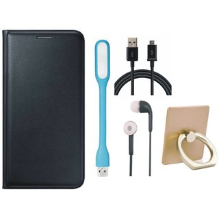 Redmi Note 5 Cover with Ring Stand Holder, Earphones, USB LED Light and USB Cable