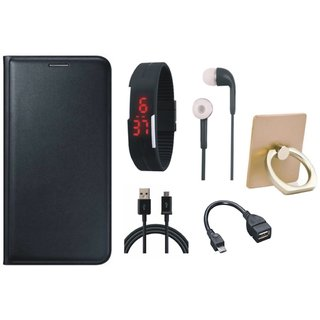 Redmi Note 5 Cover with Ring Stand Holder, Digital Watch, Earphones, OTG Cable and USB Cable